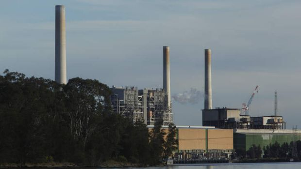 The Vales Point power station on Lake Macquarie, near Newcastle.