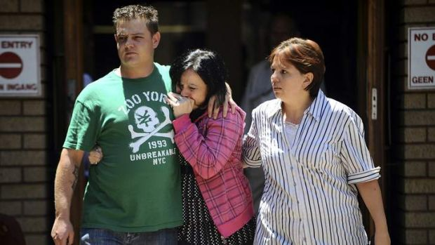 "Emotional family members leave the courthouse after members of the right-wing ""Boeremag"" were sentenced at Pretoria High ..."