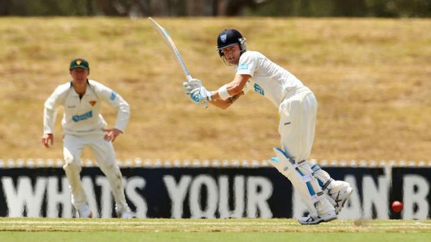 Ready for the short stuff: Australian captain Michael Clarke in action for the Blues.