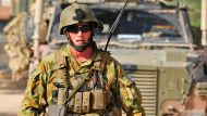 The Age News to go with Tim Lester Story. Modular Combat Body Armour System.Photographer: LS Paul Berry ...