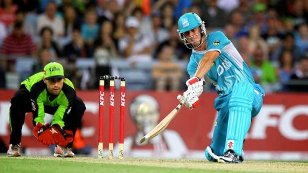 Chris Lynn batting for the Brisbane Heat.