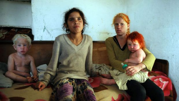Uncertain future: Four of the nine children of Sasha and Atanas Rusev, the Bulgarian parents of the child Maria who was ...