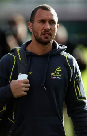 Hold the phone: Quade Cooper has been named vice-captain.