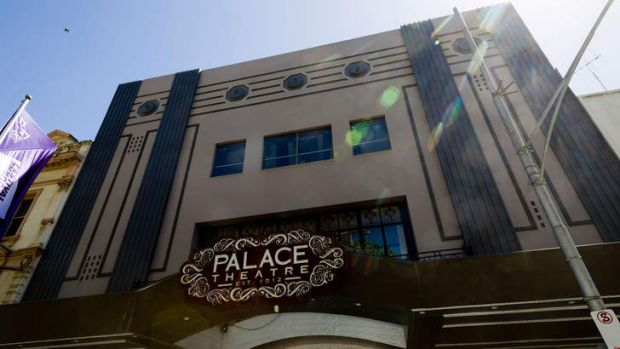 The Palace Theatre in Bourke Street.