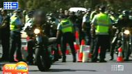 Bikies searched by police