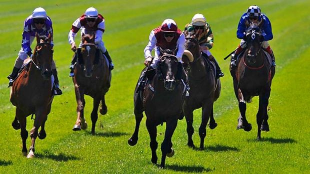 Kerrin McEvoy takes Paximadia to the front.