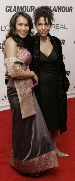 Somaly Mam (left) receiving an award for her work at the 17th Annual Glamour Women of the Year awards at Carnegie Hall ...