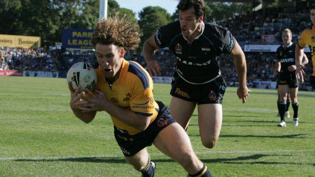 Matt Petersen in action for Parramatta in 2006.