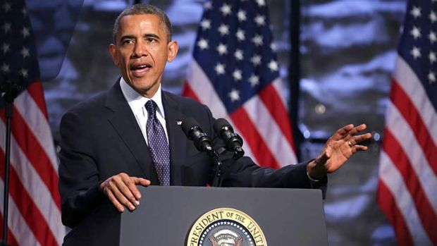 """Congress should """"pass a budget that cuts things we don't need"""": Barack Obama."""
