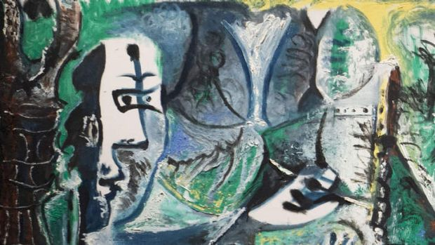 Detail from a Pablo Picasso painting, some of which were found in a private stash of 1500 paintings that had once been ...