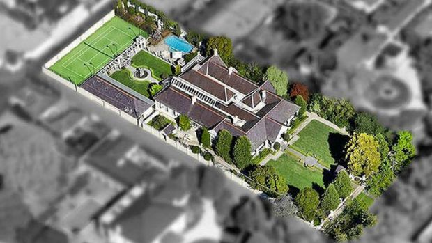 Sprawling: The property on St Georges Road in Toorak is one of Melbourne's finest trophy homes.