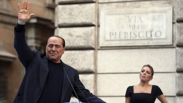 Lust: former Italian prime minister Silvio Berlusconi and his girlfriend Francesca Pascale.