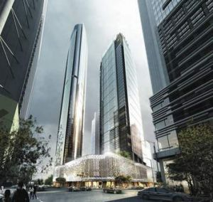 A concept design of the new development on the old Supreme and District Court building.
