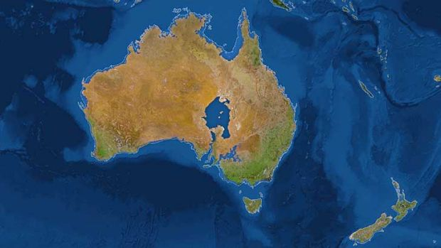 What if all the ice melted? National Geographic's map of a shrinking Australia.