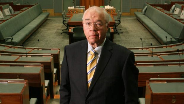 At home at Parliament House: Laurie Oakes.