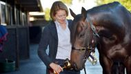 Melbourne cup 2013, Winning horse Fiorente with trainer Gai Waterhouse at Flemington   6th of November 2013. The Age ...