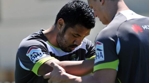 Fit and firing ... Lagi Setu has lost 22kg since his return to the NRL and is confident he can deliver for the Raiders.