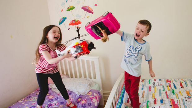 Child's play: Twins Matilda and Louie Hunter, 6, both pushed pink strollers around  when they were little because they ...