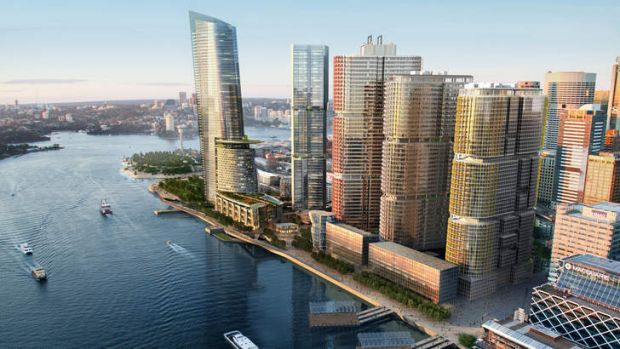An artist's impression of the proposed Barangaroo development.
