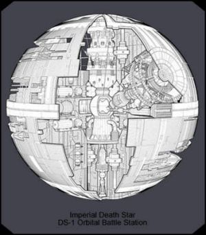 It includes a gym ... A rendering from the Imperial Death Star Manual by Haynes (haynes.co.uk), which is estimated to ...