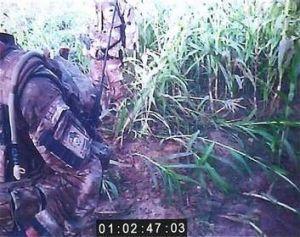 A helmet-cam image from British soldiers accused of killing a wounded prisoner in Afghanistan.
