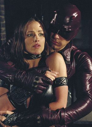 Ben Affleck as Daredevil and Jennifer Garner as Elektra.