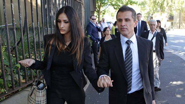 Simon Gittany, pictured with Rachelle Louise before his conviction.