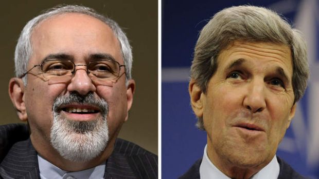Negotiations: Iranian Foreign Minister Mohammad Javad Zarif and US Secretary of State John Kerry.
