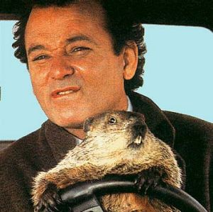 Bill Murray in <em>Groundhog Day</em>.