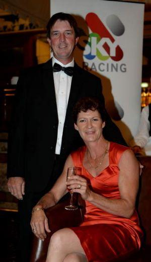 Jockey Desiree Gill and husband Barry.
