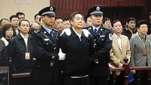 Life sentence: Bo Xilai at his trial in August.