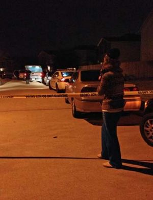 Scene of the shooting: Partygoers fled in panic, according to authorities, after  gunfire rang out at the large house ...
