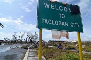 Tacloban City, Leyte, Philippines, after Typhoon Haiyan.