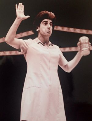 Nick Giannopoulos performing as Petroula.