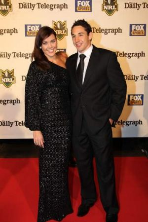 Billy Slater with wife Nicole at the Dally M's in 2011.