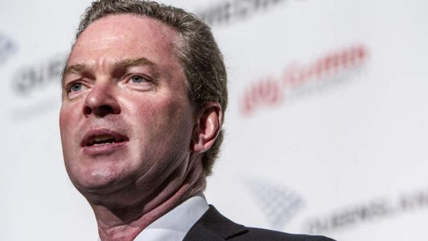 Christopher Pyne: says education funding model is a shambles.