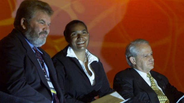 Unfinished business: ATSIC chairman Geoff Clark, Nova Peris and federal minister for indigenous affairs Philip Ruddock ...