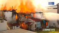 The Belvedere, built in the 1880's, is destroyed by fire in South Brisbane