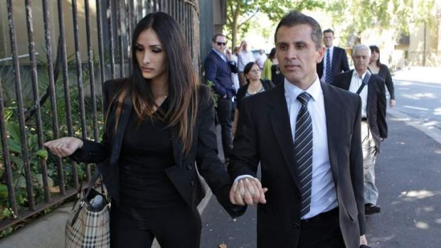 Guilty: Simon Gittany with his girlfriend, Rachelle Louise.