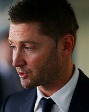 Target for bouncers: Michael Clarke.
