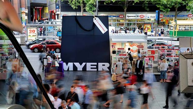 Myer sought a 'merger of equals' with rival David Jones in October.