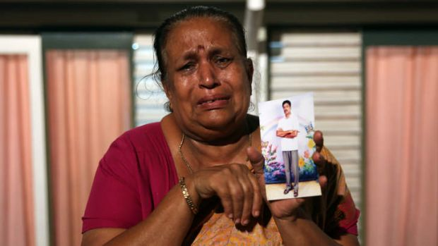 Protesting for human rights in Colombo ... Tangaraja Rajeshwari, a woman belonging to the Sri Lankan minority Tamil ...