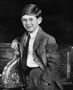 The young prince on the eve of his ninth birthday, 1957.