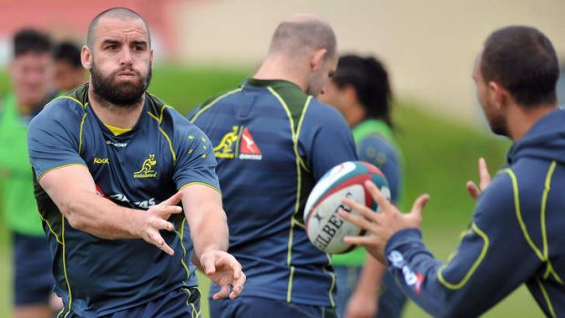 Abrasive: Scott Fardy returns for the Wallabies after missing the Italy Test because of concussion.