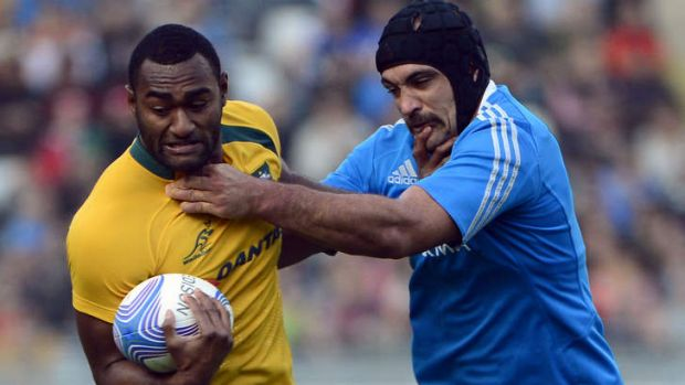 Centre stage: Tevita Kuridrani will lock horns with Irish great Bryan O'Driscoll on Saturday.