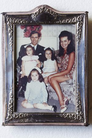 A new glamour … Susan Renouf with Andrew Peacock and their three daughters (from left) Jane, Ann and Caroline, in 1969.