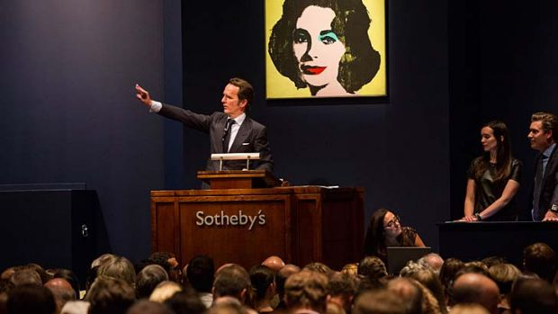 Art goes to auction at Sotheby's.