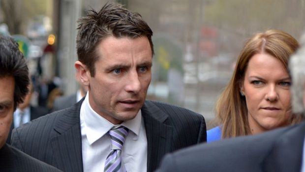 Stephen Milne arriving at the Melbourne Magistrates' Court.