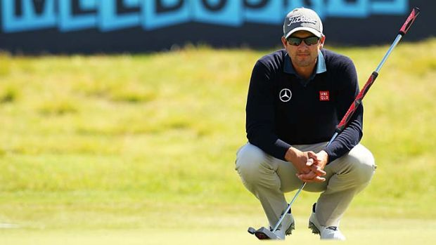 Adam Scott has birdied the first, second and third holes in his opening two rounds.