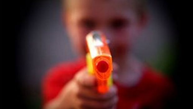 'Im persuaded that rather than discourage my boys' desire to shoot 'em up, my role might well be to foster it.'